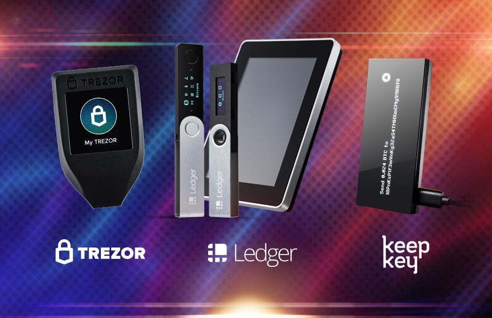 Сравнение Trezor + Ledger + KeepKey
